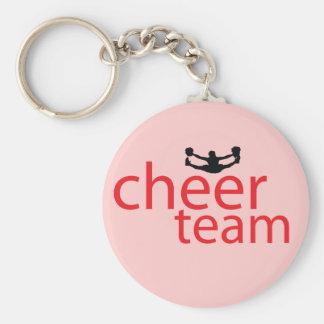 Jumping Cheerleader Team Gear Basic Round Button Keychain