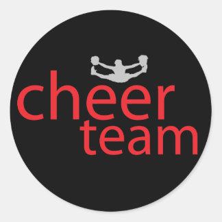 Jumping Cheerleader Team Gear Stickers
