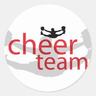 Jumping Cheerleader Team Gear Sticker