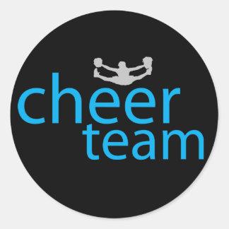 Jumping Cheerleader Team Gear Round Stickers
