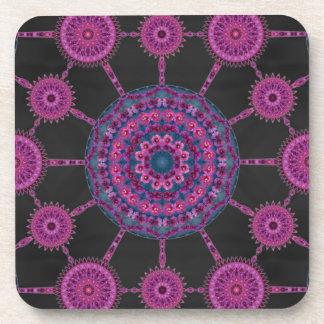 Jumping Cholla Cactus Mandala Array Coaster