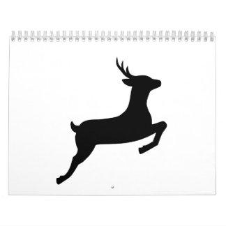 Jumping deer doe calendar
