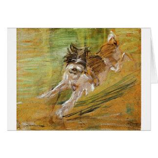 Jumping Dog Schlick by Franz Marc Card