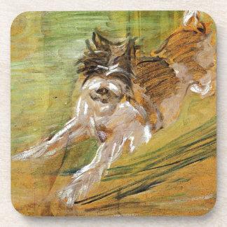 Jumping Dog Schlick by Franz Marc Coaster