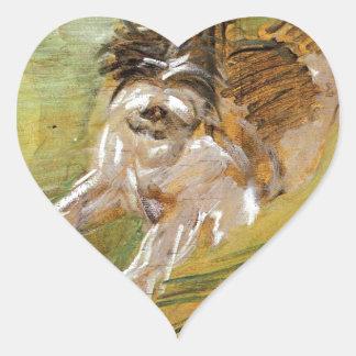 Jumping Dog Schlick by Franz Marc Heart Sticker