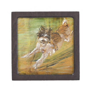 Jumping Dog Schlick by Franz Marc Jewelry Box