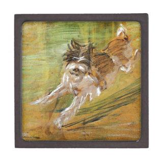 Jumping Dog Schlick by Franz Marc Keepsake Box