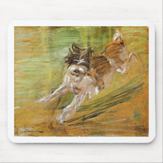 Jumping Dog Schlick by Franz Marc Mouse Pad