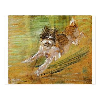 Jumping Dog Schlick by Franz Marc Postcard