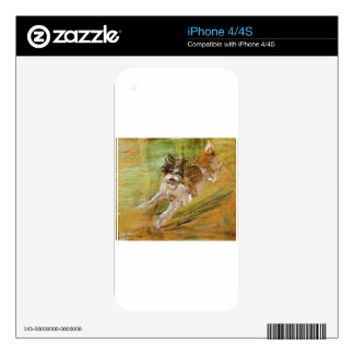 Jumping Dog Schlick by Franz Marc iPhone 4 Decals