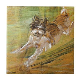 Jumping Dog Schlick by Franz Marc Tile