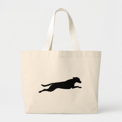 Jumping Dog Silhouette Canvas Bags