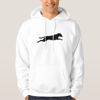 Jumping Dog Silhouette Hoodie