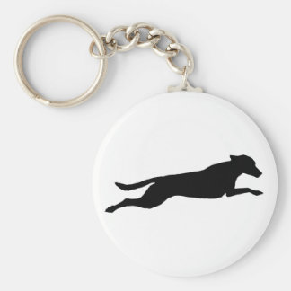 Jumping Dog Silhouette Keychains