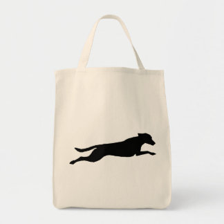 Jumping Dog Silhouette Tote Bag