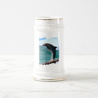 Jumping Dolphin Beer Stein Coffee Mugs