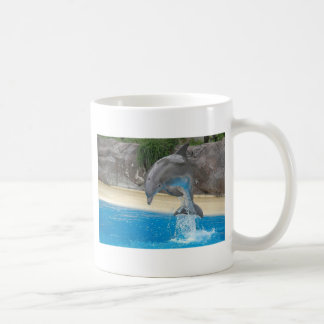 Jumping Dolphin Classic White Coffee Mug