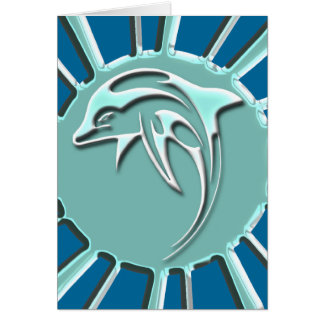 JUMPING DOLPHIN GREETING CARDS