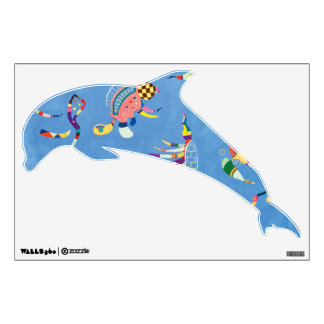 Jumping Dolphin in Sky Blue Wall Decal