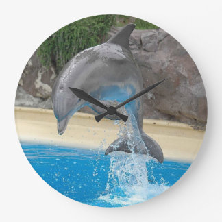 Jumping Dolphin Large Clock