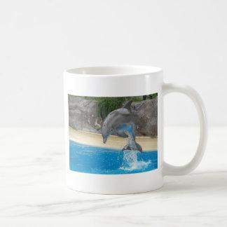Jumping Dolphin Classic White Coffee Mug