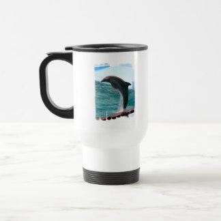 Jumping Dolphin Plastic Travel Mug