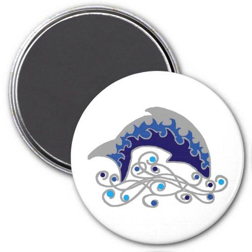 jumping dolphin refrigerator magnet