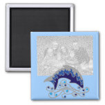 jumping dolphin template magnet