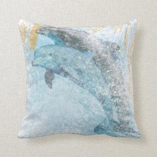 Jumping Dolphins Artwork | Throw Pillow