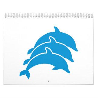 Jumping Dolphins Wall Calendar