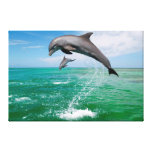 Jumping Dolphins Custom Canvas Wall Art Stretched Canvas Print