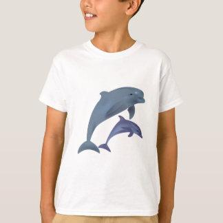 Jumping dolphins illustration kids shirt