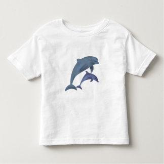 Jumping dolphins illustration toddler shirt