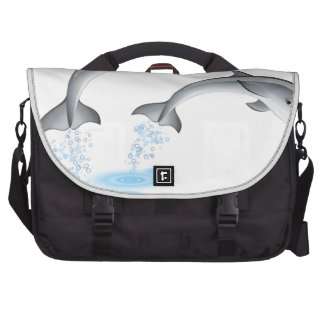 Jumping dolphins commuter bag
