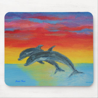 Jumping Dolphins Mouse Pad