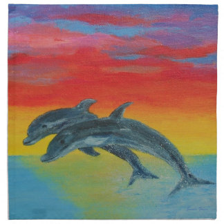Jumping Dolphins Napkins