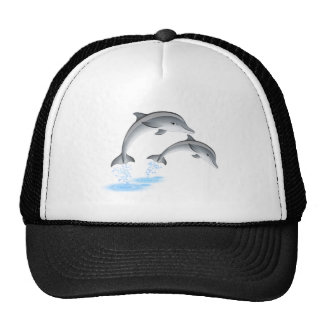 Jumping dolphins trucker hat