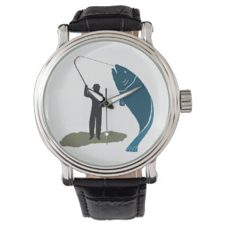 Fisherman wrist watches zazzle for Watch big fish