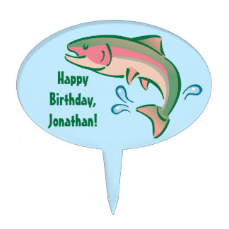 Jumping Fish Cake Topper