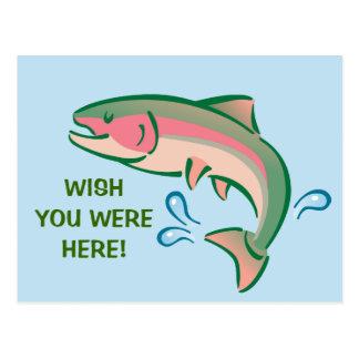Jumping Fish Postcard