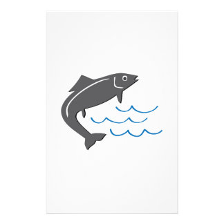 Jumping Fish Personalized Stationery