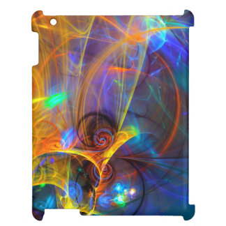Jumping fish Sunset - colorful digital abstract ar Case For The iPad
