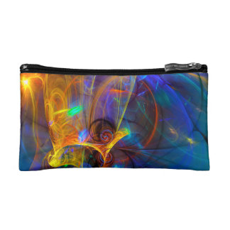 Jumping fish Sunset - colorful digital abstract ar Makeup Bag