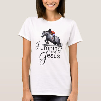 Jumping For Jesus Equestrian Jumping Horse T-Shirt