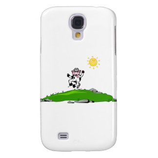 Jumping for Joy Cow on Grass Galaxy S4 Cover