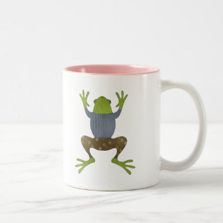 Jumping Frog Two-Tone Coffee Mug