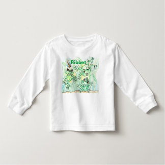 Jumping Frogs Ribbet Long Sleeved Toddler Tee