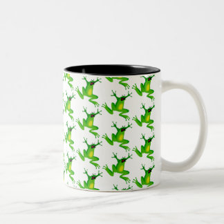 Jumping Frogs Two-Tone Coffee Mug