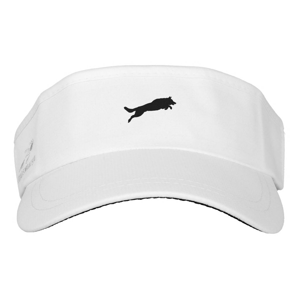 Jumping German Shepherd Silhouette Love Dogs Visor