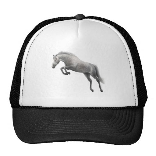 Jumping Gray Thoroughbred Hat